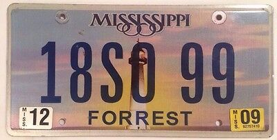 Mississippi SHERIFF OFFICE POLICE license plate SO State Trooper Patrol Officer