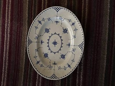 Furnivals  Blue Denmark   Large Oval Platter Plate 14 X 11 Inches
