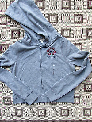 New Girls Grey Hollister Hoody Sweat Zip Top Small Age: 10-12 years