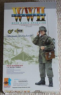 dragon action figure 1/6 ww11 german hermann 70374 12'' boxed did cyber hot toy