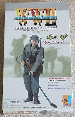 dragon action figure 1/6 ww11 german bengt 70405 12'' boxed did cyber hot toy