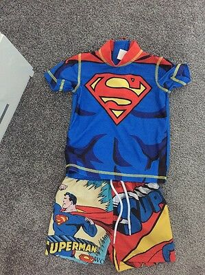 Baby Boys Swimming Suit Superman 9-12months