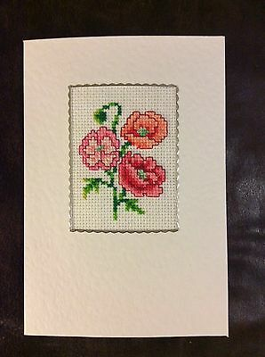 Completed Cross Stitch Card