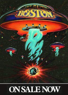 BOSTON Self Titled Album Promo Reproduction Counter Top Stand-Up Display