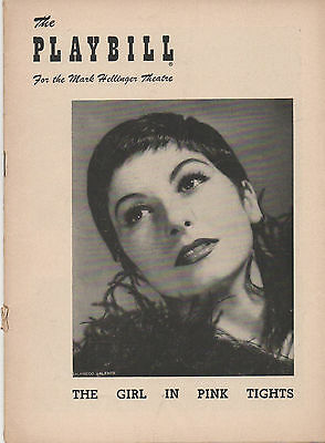 1954 Playbill 'The Girl In Pink Tights' Jeanmarie Charles Goldner Gregory Hines