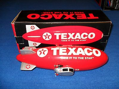 1997 Speccast Texaco Die-Cast Metal Blimp Coin Bank Replica 1 Of 5,000 Red/white