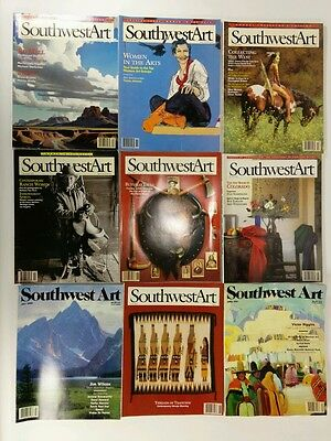 Southwest Art Magazine lot of 9 from the 1990s