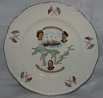 Alfred Meakin Plate to Commemorate the Opening of the St. Lawrence Seaway 1959