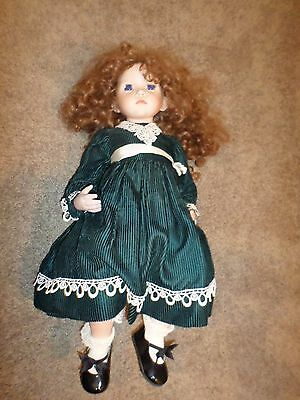 """Dianna Effner 1995 Molly Doll Signed Jacqueline 1996 Red Hair Blue Eyes 26"""""""