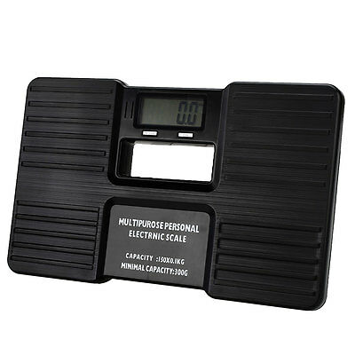 Digital Body Bathroom Weight Scale Personal Health Fitness 150kg Black