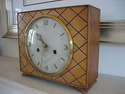SMITHS 1960s BEECH CASED CLOCK