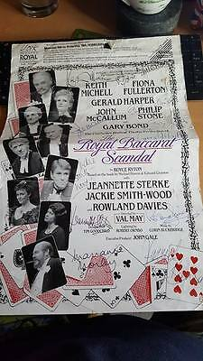 The Royal Baccarat Scandal Fully Cast Signed Theatre Poster (1989)