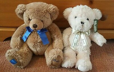 Harrods & Henleys Teddy Bear Bundle. Pink Blue Tags. Excellent Condition.