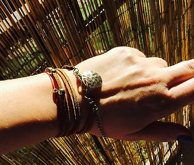 Wrap Suede Boho Bracelet With Vintage Gold Charm And Elements