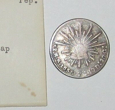 1838 Mexico 2 Reales Real nice old silver coin NO RESERVE
