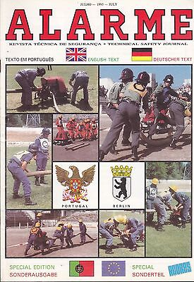 """Fire magazine from Portugal - """"Alarme"""" - July 1993"""