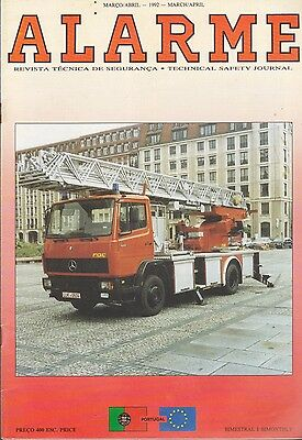 """Fire magazine from Portugal - """"Alarme"""" - March 1992"""