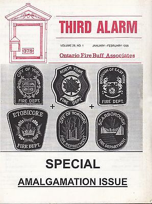 Ontario (Canada) Fire Buff Associates Journal - Special Issue - January 1998