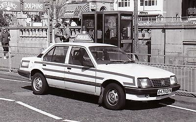 Black & White Photo of an old Vauxhall Cavalier Police Car - A479 EPN