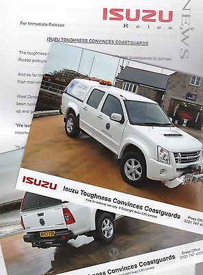 ISUZU RODEO (Dorset Harbour Masters) Press Release & 2 Colour Photos from 2008