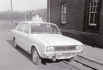 Black & White Photo of an old Hillman Hunter Police Car - NTY 995F