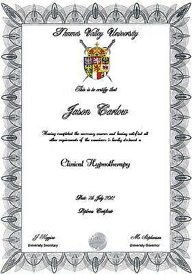 Diploma Certificate  A4  Novelty