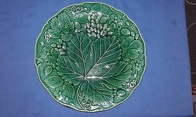 Green Antique Majolica Leaf Plate Maker`s Mark Is Till C1850/61 Great Condition