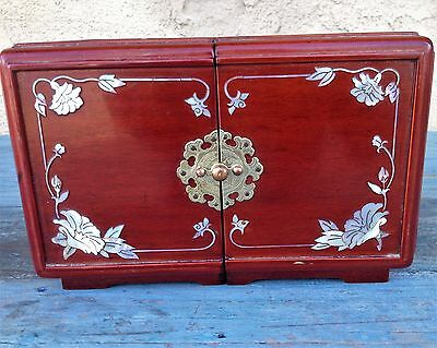 Korean Traditional Large Royal Quality Wood Vanity /jewelry Box Mother Of Pearl