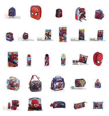 SPIDERMAN Backpack Lunch Case Bag Bottle Travel Blanket OFFICIAL & AUTHENTIC NEW