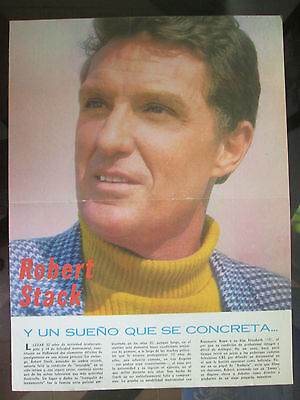 Robert Stack 60's From A Magazine In Spanish