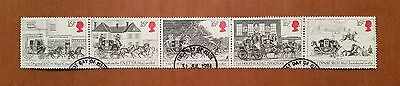 GB QEII comm. stamps (SG 1258-62) 1984. First Mail Coach Run. Set of 5, ex FDC