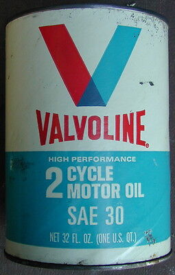 Old Original Valvoline Oil Company Motorcycle Motor Oil Can 1960's Very Rare