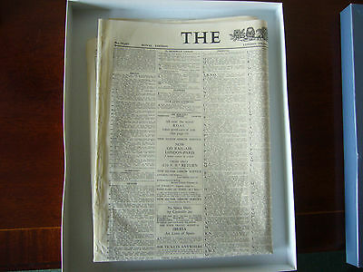 """Original Boxed Presentation Copy of """"The Times"""" for May 10 1963."""