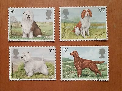GB QEII comm. stamps (SG 1075-1078) 1979 Dogs. set of 4 (from FDC)