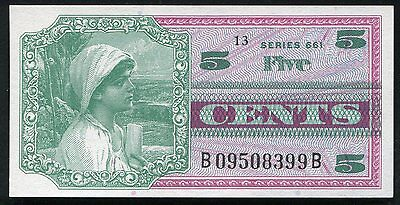 Series 661 5 Five Cents Mpc Military Payment Certificate Gem Uncirculated