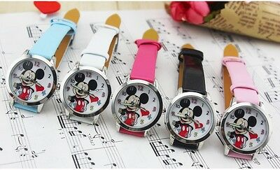 Boys Girls Quality Watch Micky Mouse Wristwatch Disney + Gift Box Colour Option
