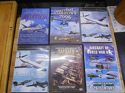 6 Aviation flying ,aircraft, displays, DVD's