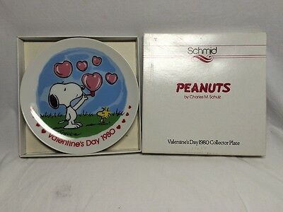 Schmid Peanuts Valentines Day 1980 Collector Plate New In Box