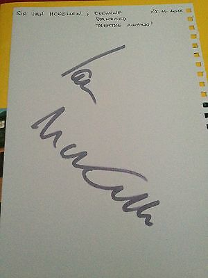 Original Autograph of Ian McKellen (In Person) Lord of the Rings, The Hobbit