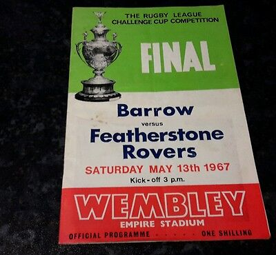 Rugby  league  Barrow V Featherstone Rovers May Final 13th 1967