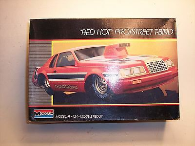 Vintage Monogram Red Hot Pro/street T-Bird-1:24 Scale Not Sealed