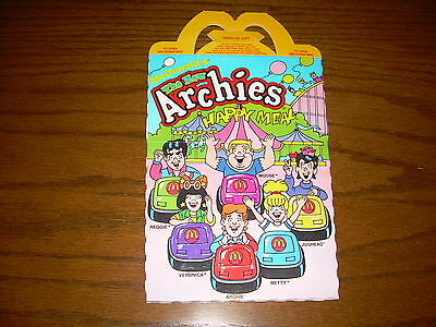 1988 McDonald's Happy Meal Box Archies Haunted House