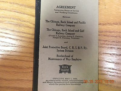 Riock Island Labor Agreement with Maintenace of Way Employees 1938