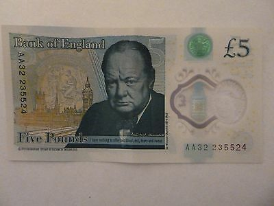 new style 5 pound note with AA in the seral numbers £5