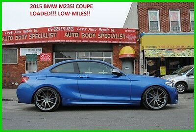 2015 BMW 2-Series i M235i M-235 F22 M 235i Repairable Rebuildable Salvage Wrecked Runs Drives Project Needs Fix Low Mile
