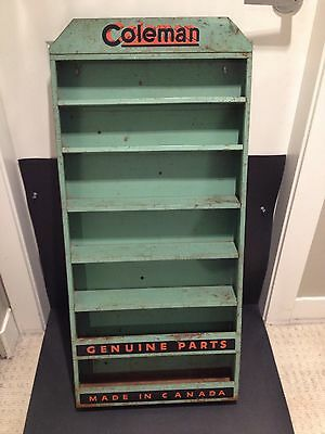 Coleman Dealer Parts Display Rack / Sign Vintage collectible advertising Canada