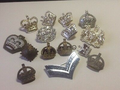 A Small Lot Of Rank Badges Officers And NCOs