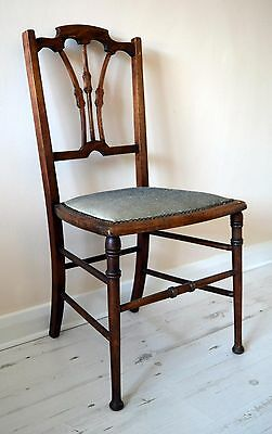 FREE Delivery Antique Victorian Georgian Ornate Solid Wood Chair Side Hall Desk