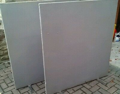 Office screen partition room divider grey (used)