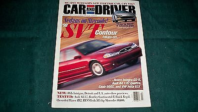 1998 Ford Contour Svt  Car And Driver  March'97